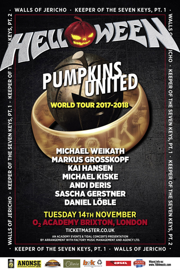 "Helloween ""Pumpkins United Tour 2017"
