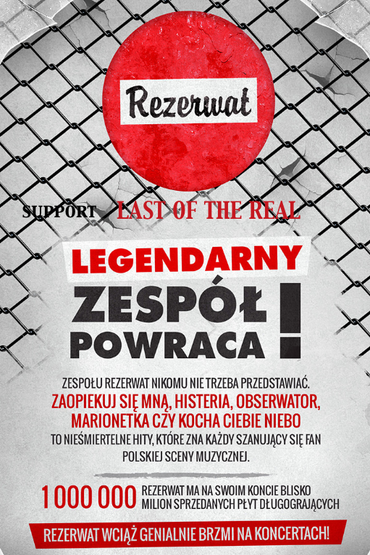 Rezerwat support Last of The Real Trasa Koncertowa w UK (London)