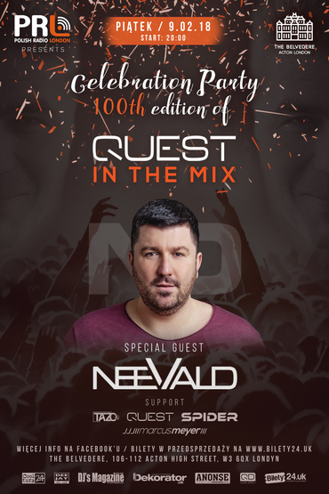 "Celebration Party 100th edition of ""Quest In The Mix"" - neeVald"