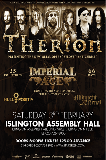 Therion at Islington Assembly Hall