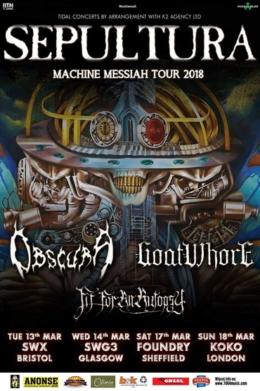 SEPULTURA - MACHINE MESSIAH TOUR 2018