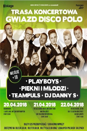 Piekni i Mlodzi & Playboys w Northampton