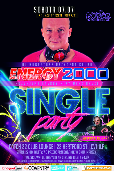 DJ Hubertuse impreza z Energy 2000 w Coventry ★Single party★