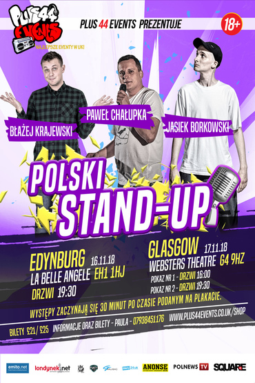 Stand-up Glasgow - Pokaz o 19:30