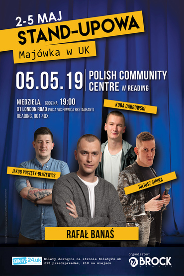 Stand-upowa Majówka w UK / Reading