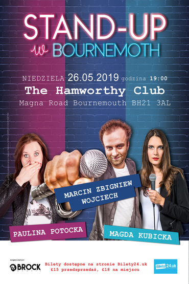 "Stand-up w Bournemouth ""M.Z.Wojciech,Potocka,Kubicka"""
