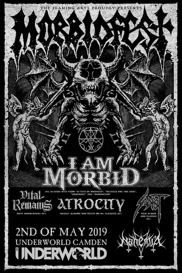 I AM MORBID featuring David Vincent ATROCITY Vital Remains SADIST + NahemiA