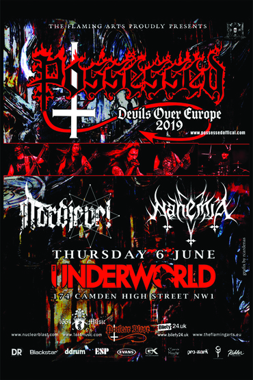 Possessed, Nordjevel & NahemiA at The Underworld Camden