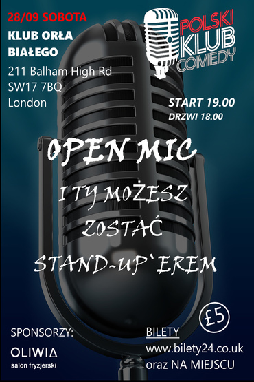 Zostań Stand-Up`erem - OPEN MIC!